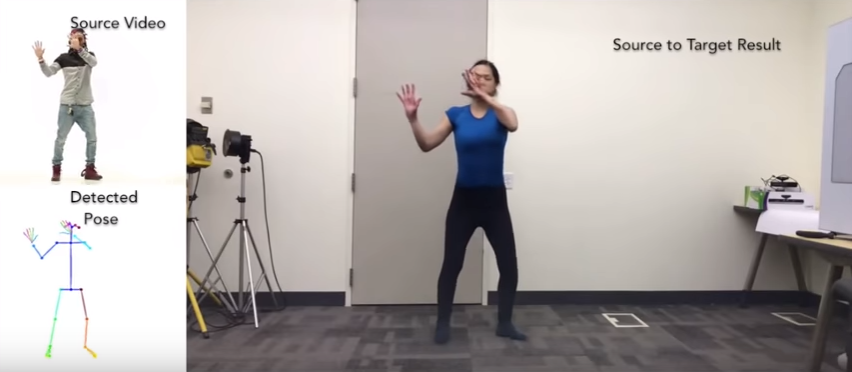 Incredible Pose Detection and Translation Technique from UC Berkeley