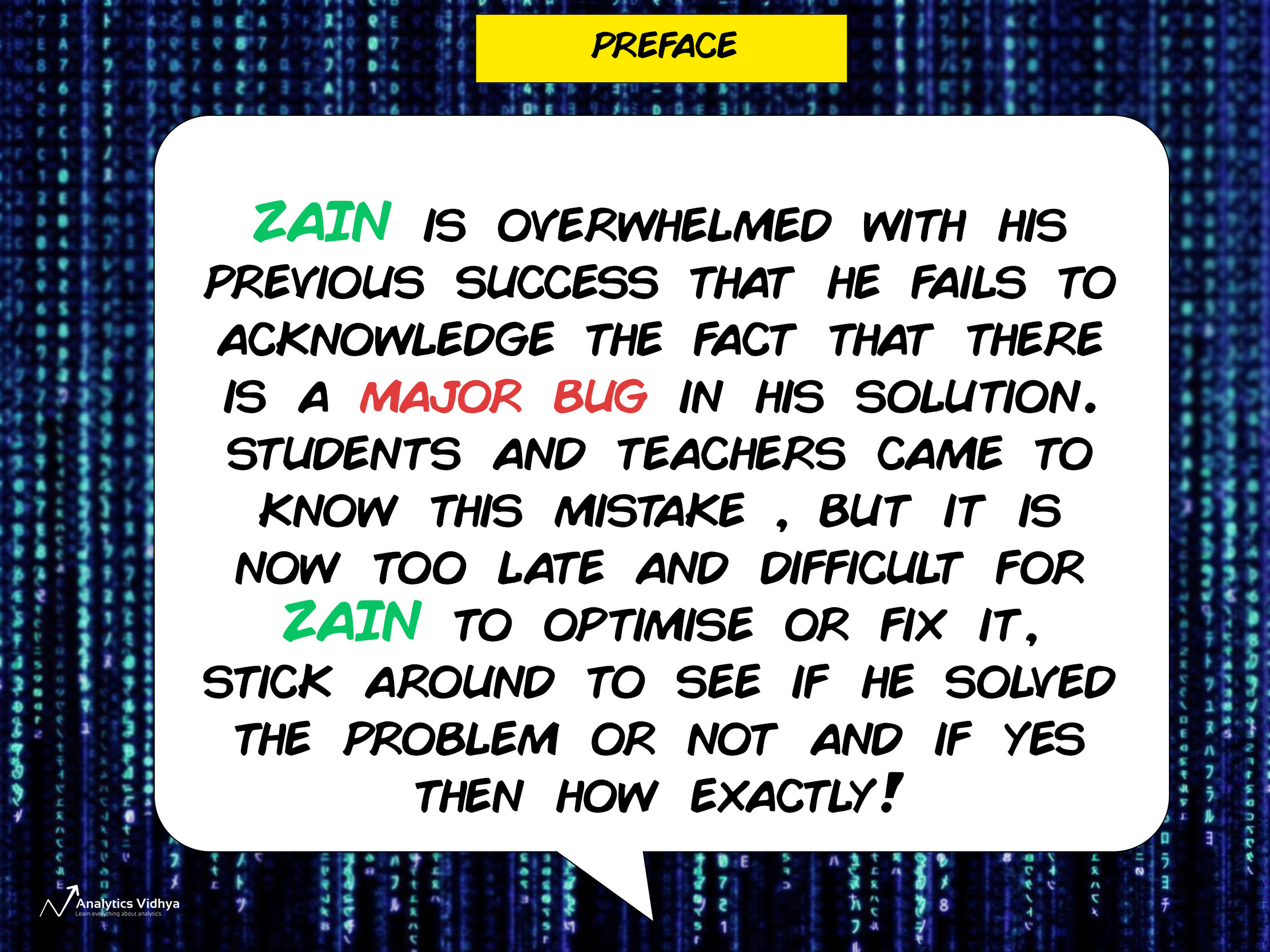 The AI Comic ZAIN Issue 2: Keep Calm and Optimize (Facial Recognition)