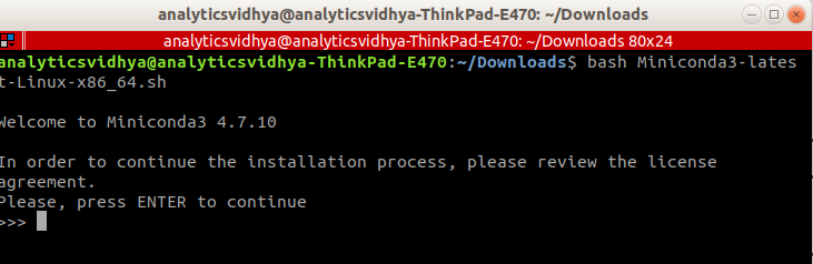 install Python linux