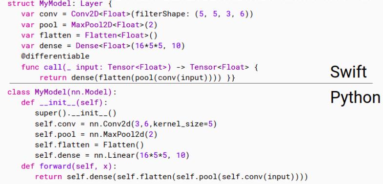 swift for tensorflow