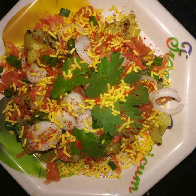 Photo of Fried potato penut bhel by Anamika Bhatt at BetterButter