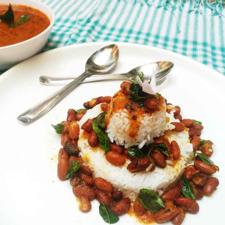 How to make Kidney beans gravy with rice(rajma chawal)