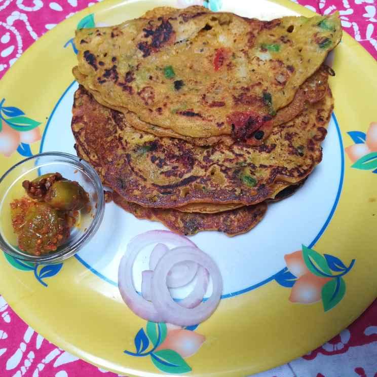 Photo of Besan rava chila by Anamika Bhatt at BetterButter
