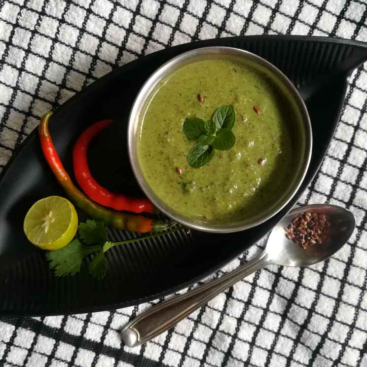 How to make Linseed mint chatni