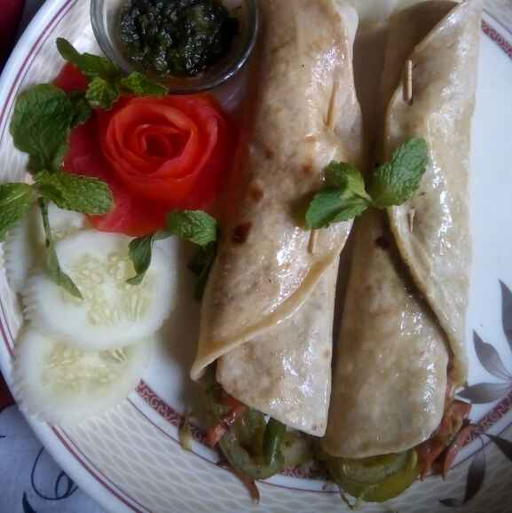 Photo of Veg Kathi roll by শংকরী পাঠক at BetterButter