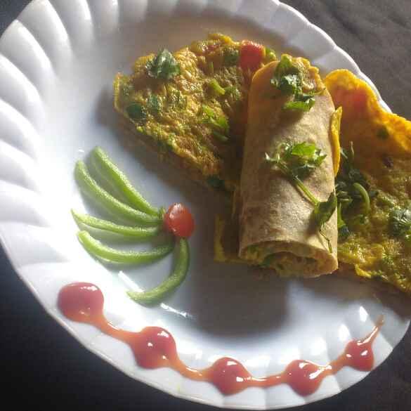 How to make Egg vegetable ruti wrap