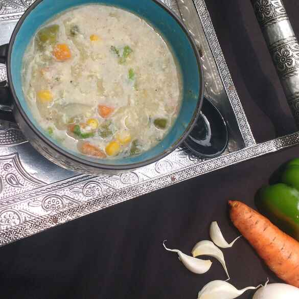 Photo of Vegetable corn egg drop soup by সুসমিতা ঘোষ at BetterButter