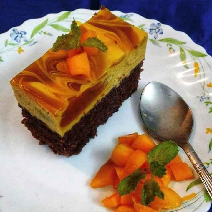 Photo of Choco mango mousse cake by Debjani Dutta at BetterButter