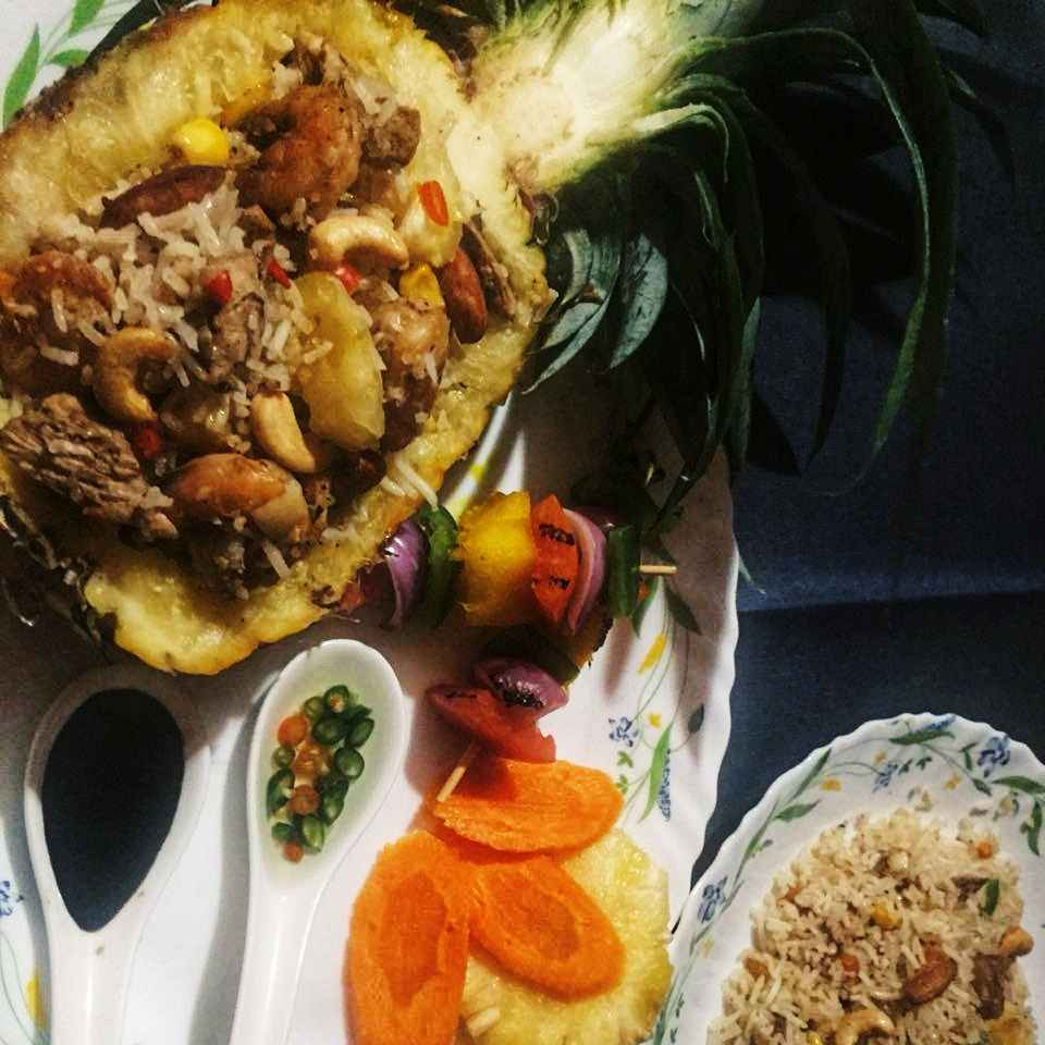 Photo of Nutty pineapple herbs rice by Debjani Dutta at BetterButter