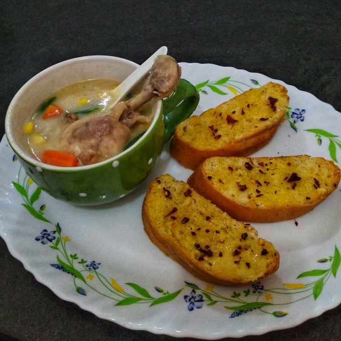 Photo of Creamy Chicken stew with veggies by Debjani Dutta at BetterButter