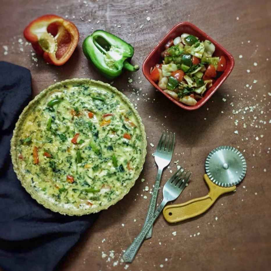 Photo of Quiche with oats crust by Debjani Dutta at BetterButter