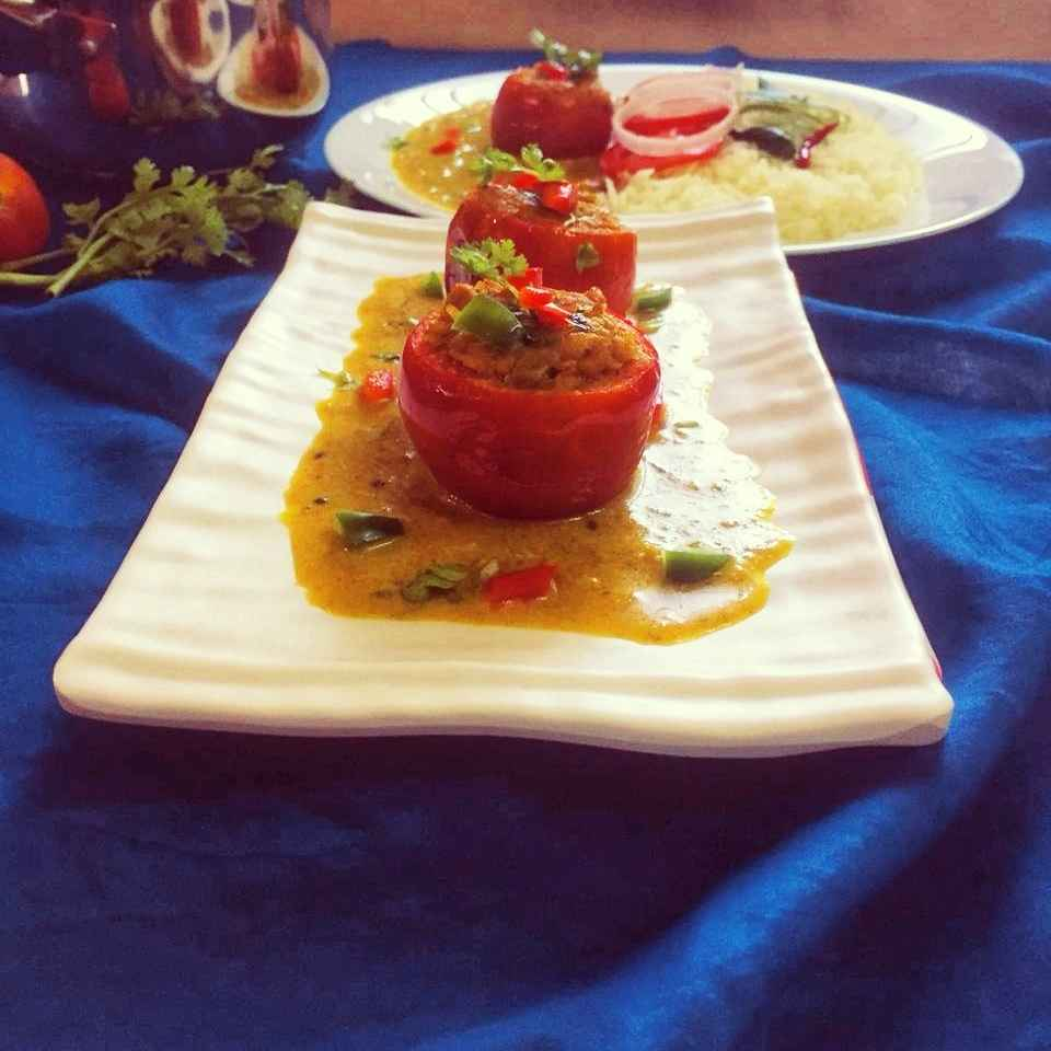 How to make Stuffed tomato ka salan