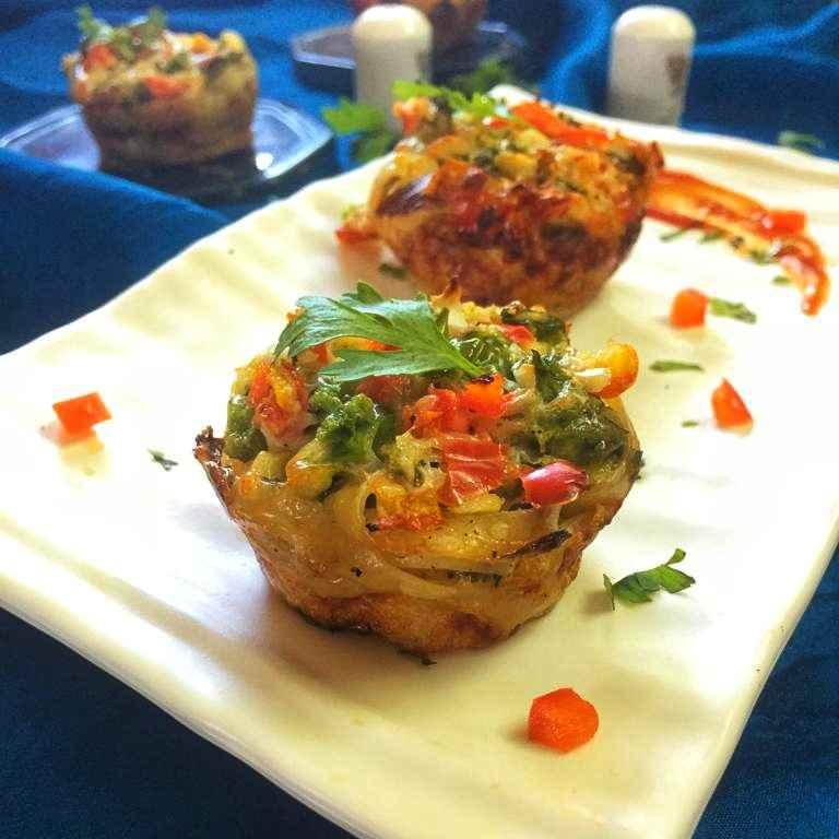 Photo of Cheesy fettuccine muffin by Debjani Dutta at BetterButter