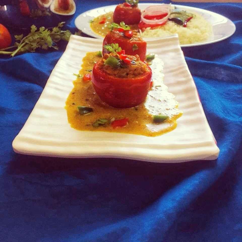 Photo of Stuffed Tomato ka Salan by Debjani Dutta at BetterButter