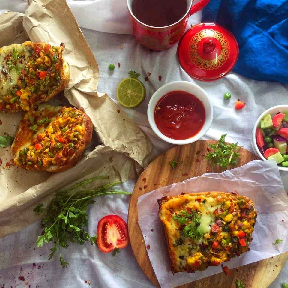 Photo of Grilled two-in-one open sandwich by Debjani Dutta at BetterButter