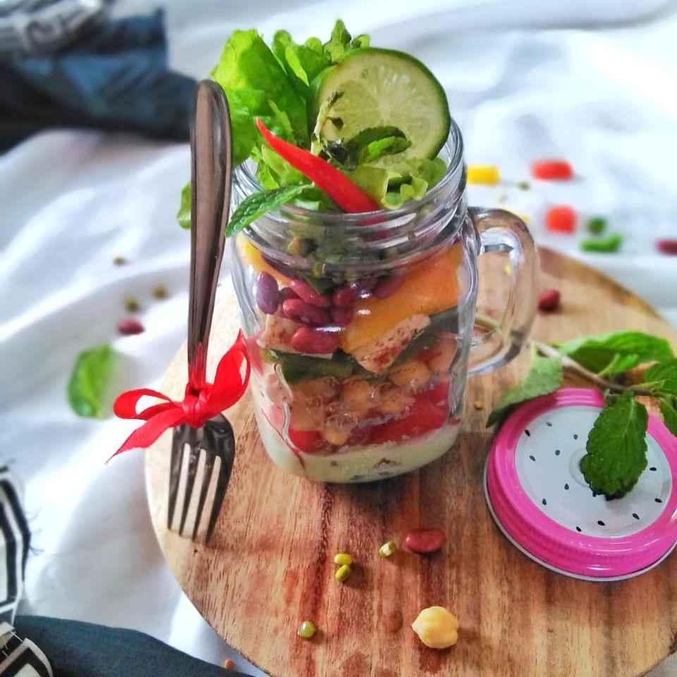 Photo of Mason jar salad by Debjani Dutta at BetterButter