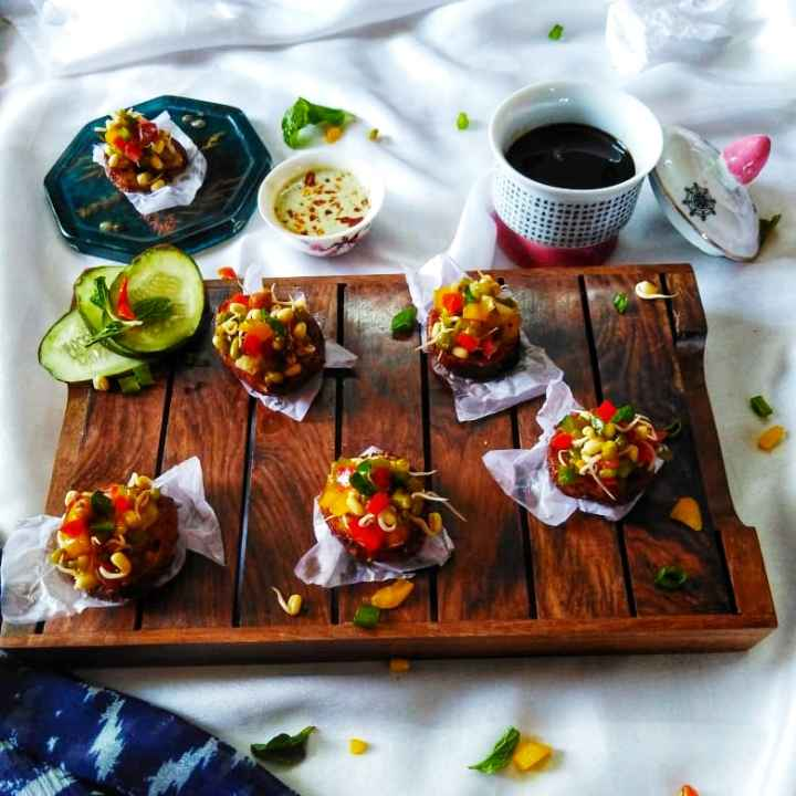 Photo of Barbeque sweet potato canapes by Debjani Dutta at BetterButter
