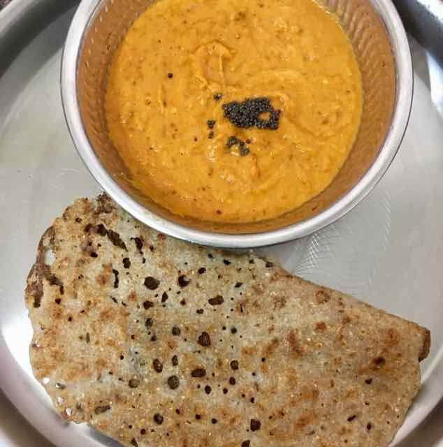Photo of broken wheat dosai with carrot tomato chutney by Dhanalakshmi Sivaramakrishnan at BetterButter