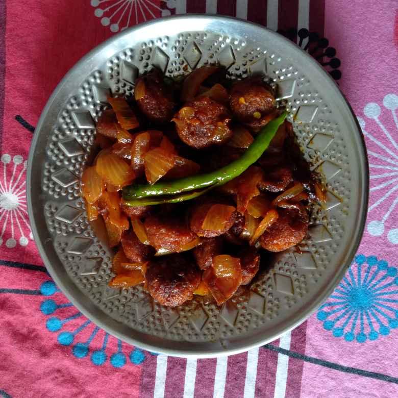 Photo of Easy Spicy Tangy Soya Chunks Manchurian by Dhanalakshmi Sivaramakrishnan at BetterButter