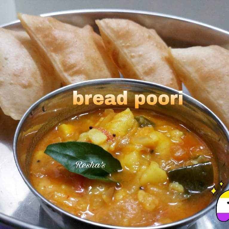 How to make பிரட் பூரி