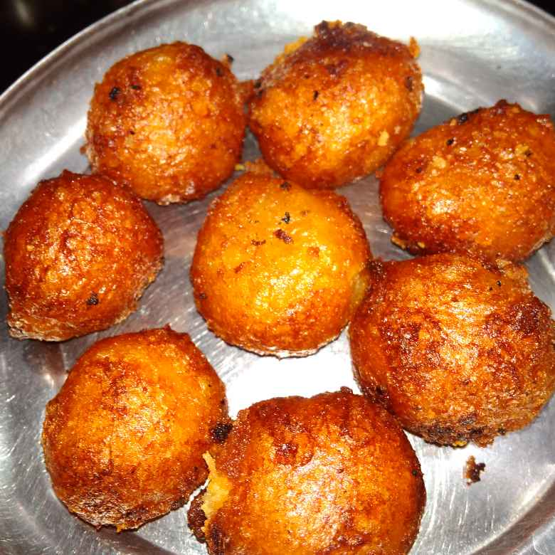 Photo of Boorelu (Stuffed sweet balls) by దూసి గీత at BetterButter