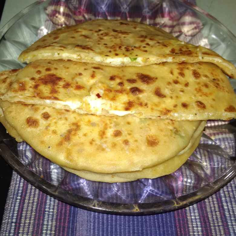 Photo of Cheese paratha. by దూసి గీత at BetterButter