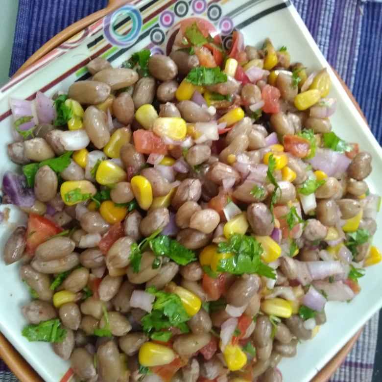Photo of Ground nut,sweet corn chat. by దూసి గీత at BetterButter