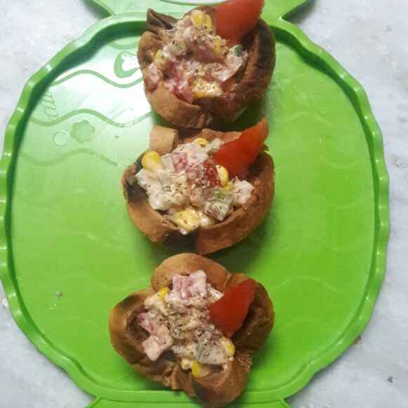 How to make బ్రెడ్ కటోరి చాట్