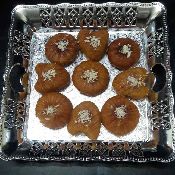Photo of Moong dal sweet hearts and round moons by ప్రశాంతి మారం at BetterButter