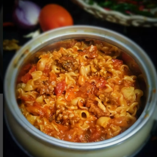 Photo of Tomato pasta with walnut twist by Safiya Khan at BetterButter