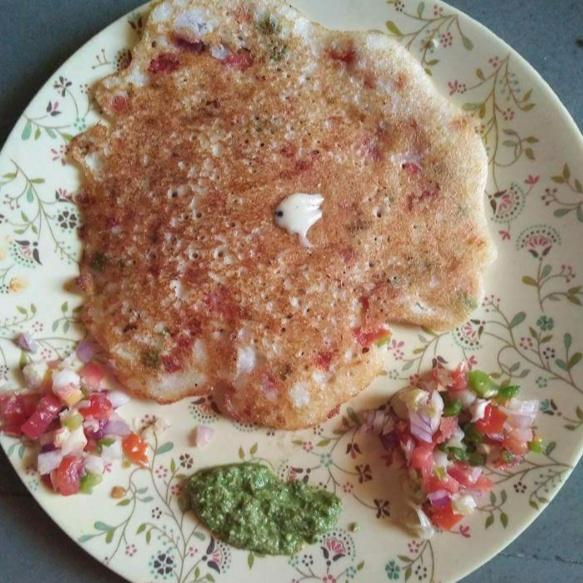 Photo of Oats veggies uttapam by Aachal Jadeja at BetterButter