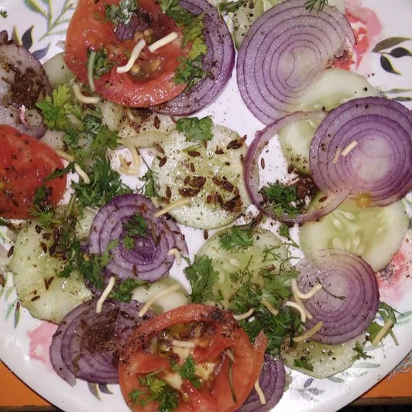 Photo of SALAD WITH bhuna jeera by Aachal Jadeja at BetterButter