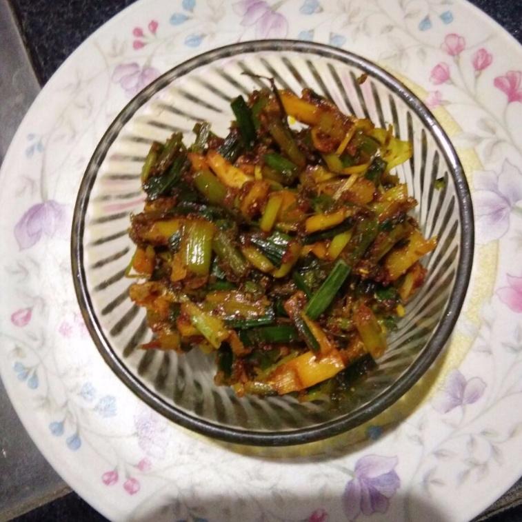 Photo of Green lahsun ki sabji by Aachal Jadeja at BetterButter