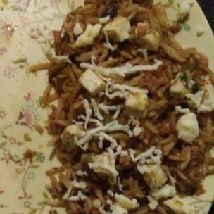 How to make Cheese paneer rice