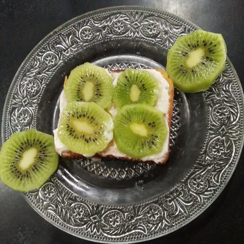 How to make Kiwi open sandwich