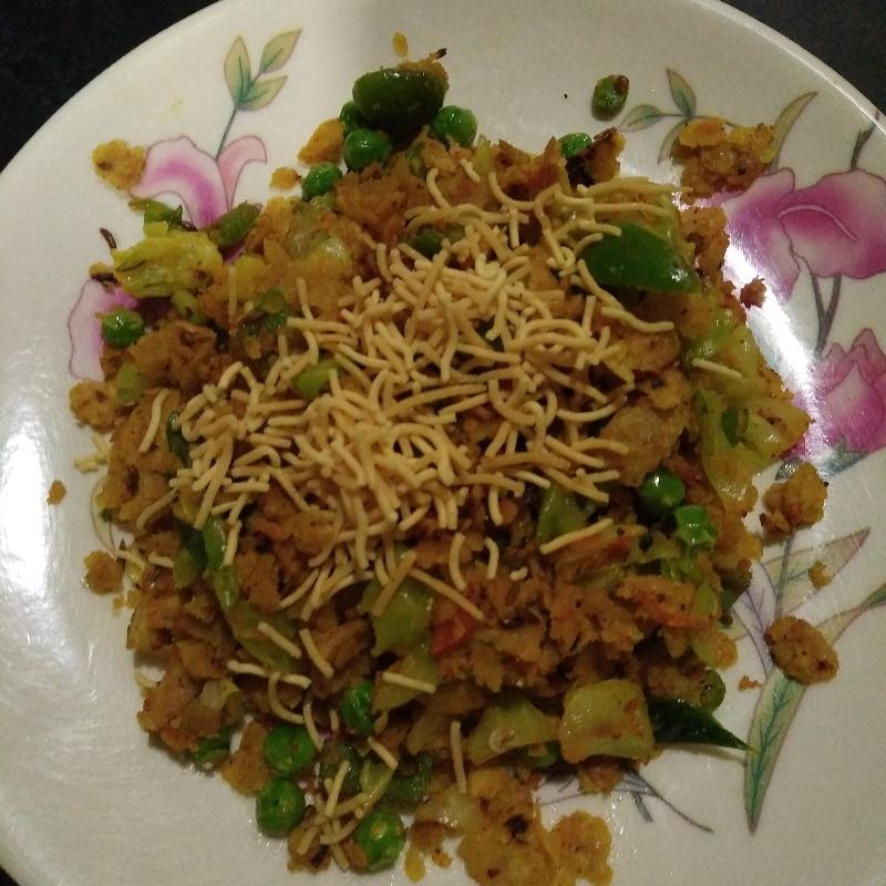 How to make Roti vegetable poha