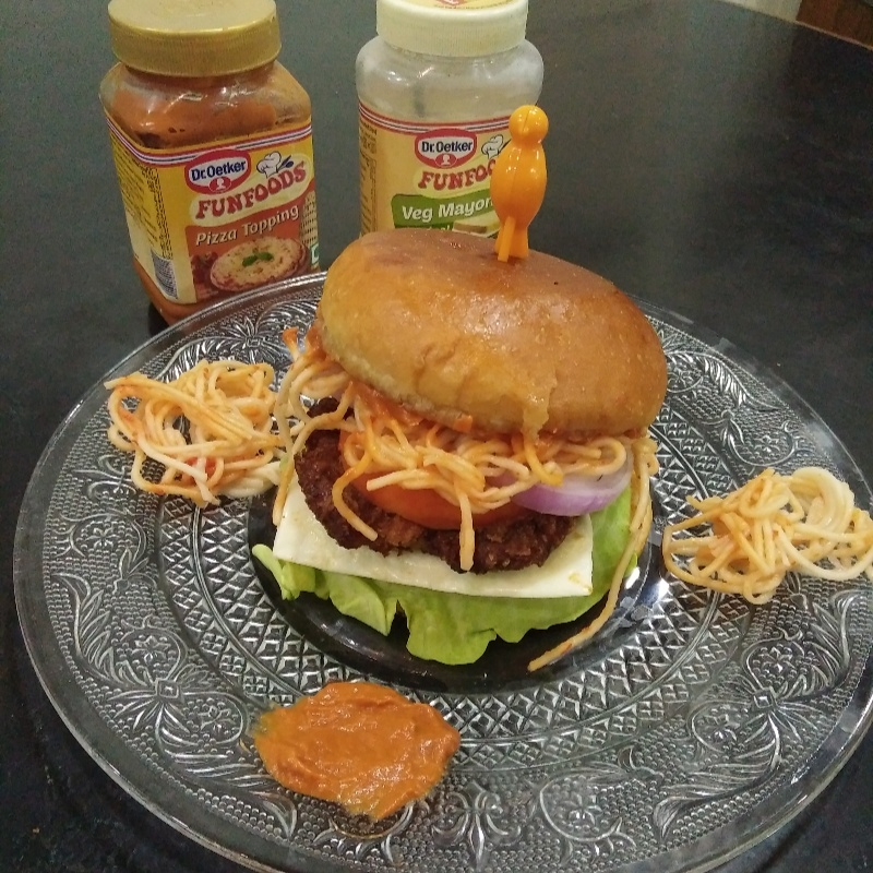 Photo of Chinese style dr.oeteker mayyonise burger by Aachal Jadeja at BetterButter