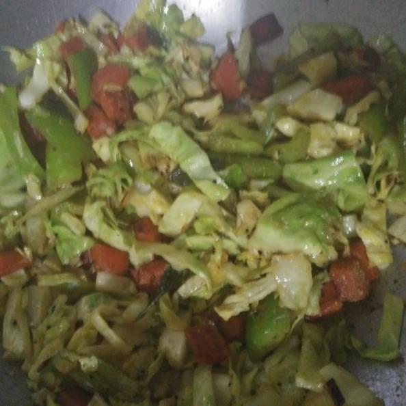 How to make Mix  veggies Salad