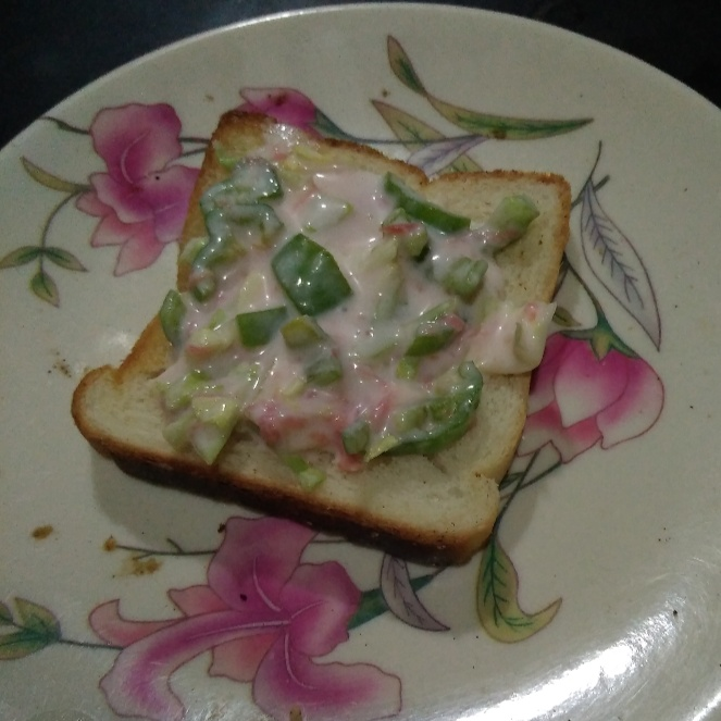How to make Curd open sandwich