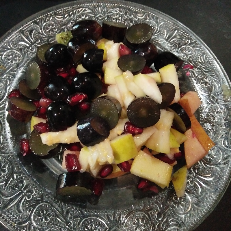 How to make Chopped fruit chaat