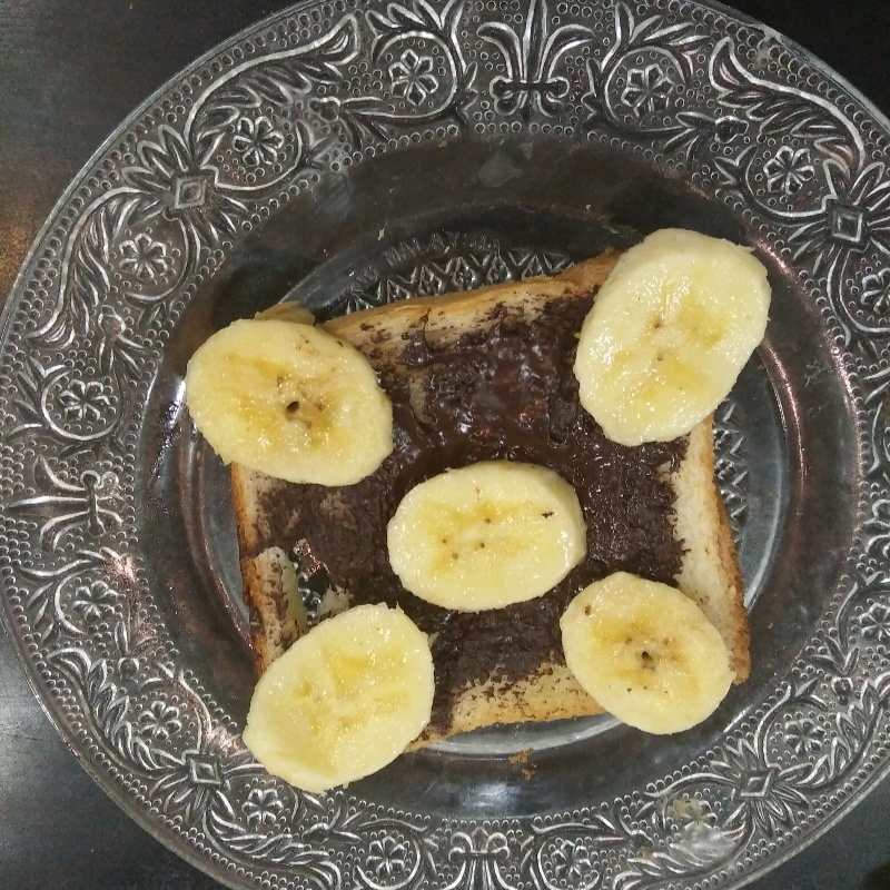 How to make Open face bananachoco sandwich