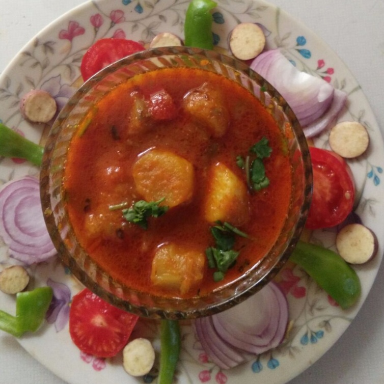 How to make Sweet potato spicy sabji