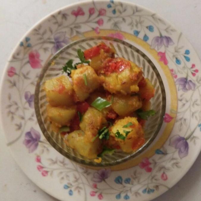 How to make Sweet potato dry sabji
