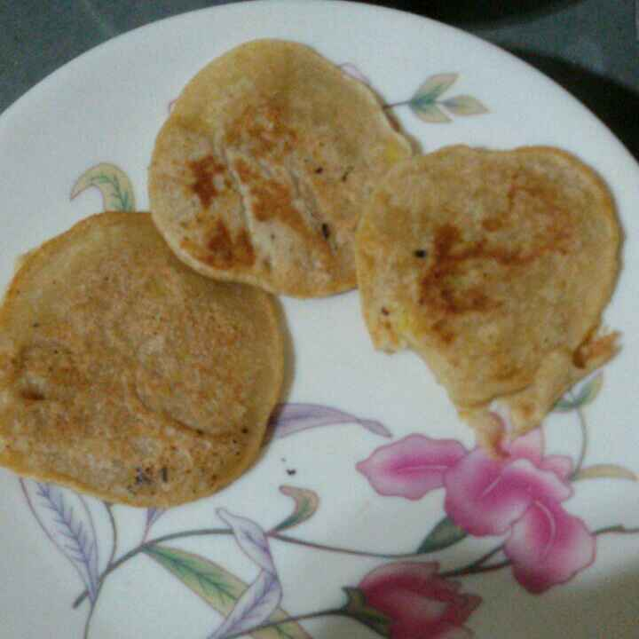 How to make Apple banana pancake