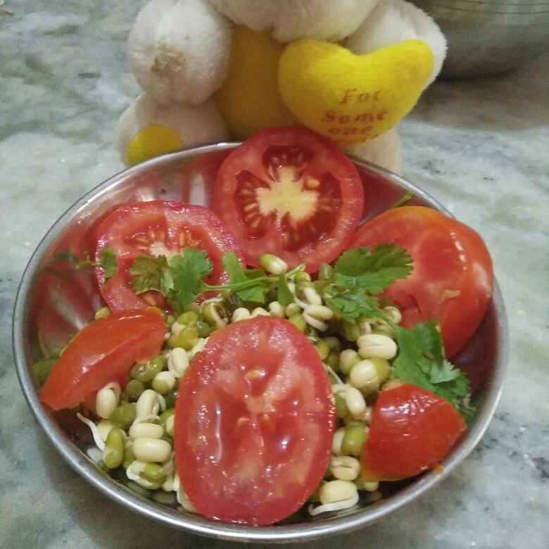 Photo of Tomato sprouts salad by Aachal Jadeja at BetterButter