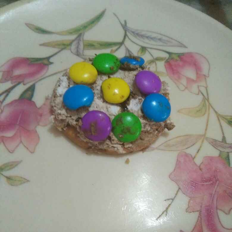 Photo of Biscuit gems cream cake by Aachal Jadeja at BetterButter