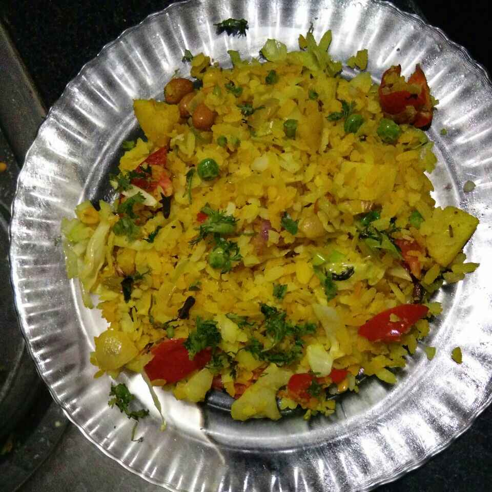 How to make Mix vegetables poha