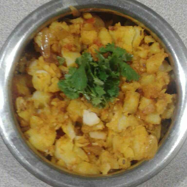 Photo of Potato masala with peanut by Aachal Jadeja at BetterButter