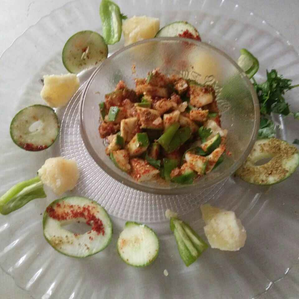 How to make Jaggery chilly raw mango