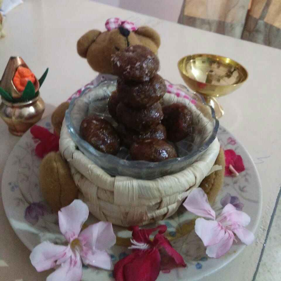 How to make Choco coconut laddu